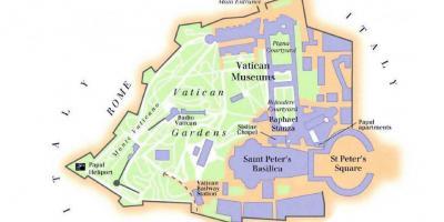 kart over vatikanstaten Vatika  Vatikakart   Kart Vatika  Vatikanstaten (Sør  kart over vatikanstaten